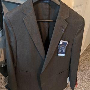 Stafford Brown Suit Jacket Slim - 42R